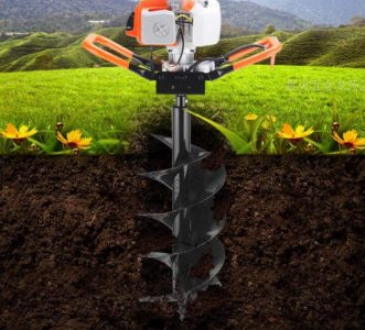 Drill bit spiral for planting