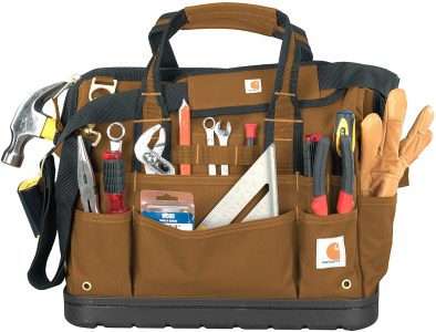 Carhartt Legacy Tool Bag for Carpenters that has enough pockets to put tools for you.