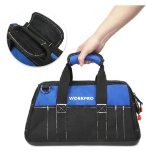 WORKPRO Wide Mouth Tools Bag that can also carry bulky tools