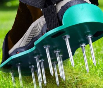 Ohuhu Lawn Aerator Shoes with Hook & Loop Straps, All New Unique Design