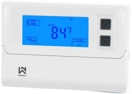 Saswell Thermostat for Heat Pump with Auxiliary Heat
